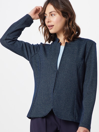TOM TAILOR Blazer in navy / weiß, Modelansicht