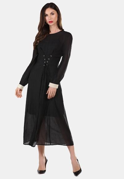 faina Kleid in schwarz / weiß, Modelansicht