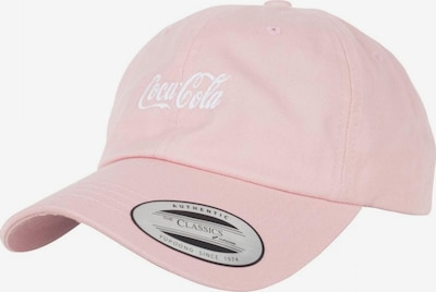Mister Tee Cap 'Coca Cola' in pastellpink / weiß, Produktansicht