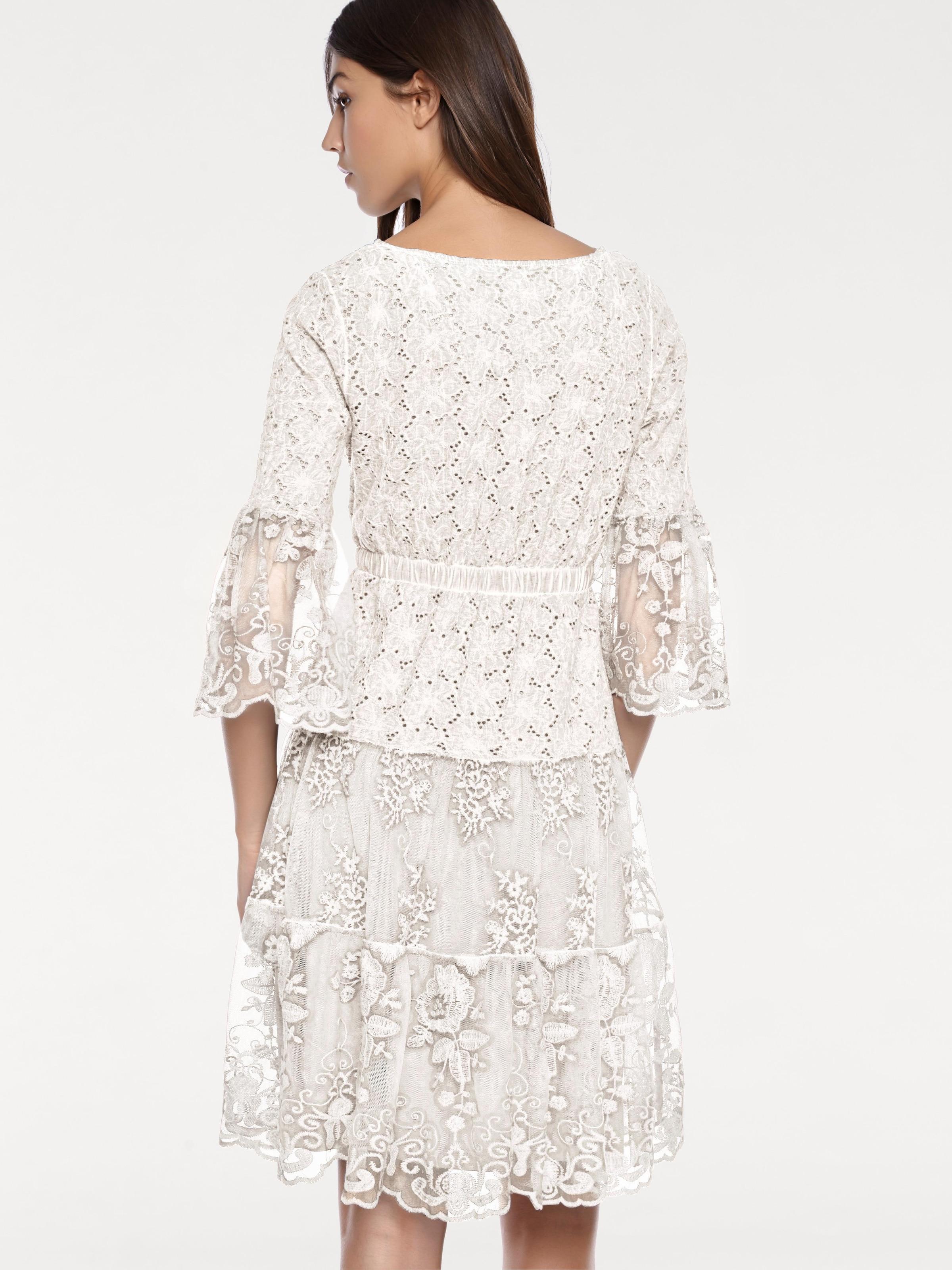 En Blanc Blanc Robe Perle Robe Robe Heine Heine En Perle Heine En Xkn80wOP