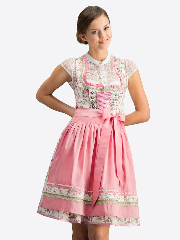 STOCKERPOINT Dirndl 'Astoria' in creme / rosé, Modelansicht