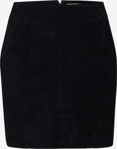 VILA Lederrock 'SUSA' in schwarz, Produktansicht