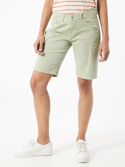 Pantaloni cu buzunare Sublevel pe verde pastel, Vizualizare model