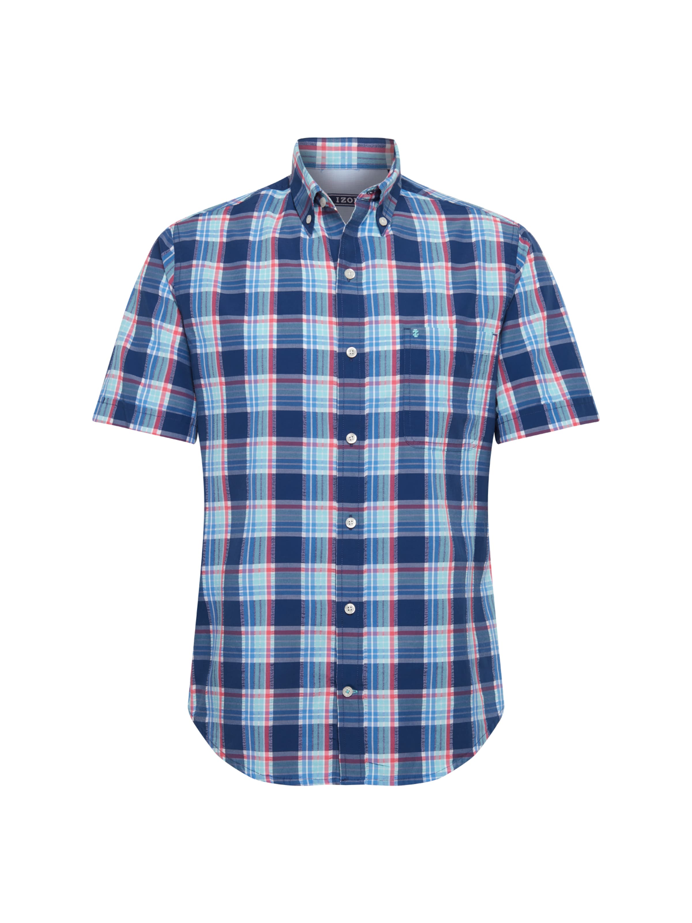 Shirt' Plaid Blau Hemd Bd 'seersucker Izod In Ss dtrQxshC