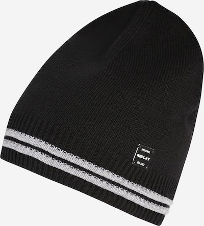 REPLAY Bonnet en noir / blanc, Vue avec produit