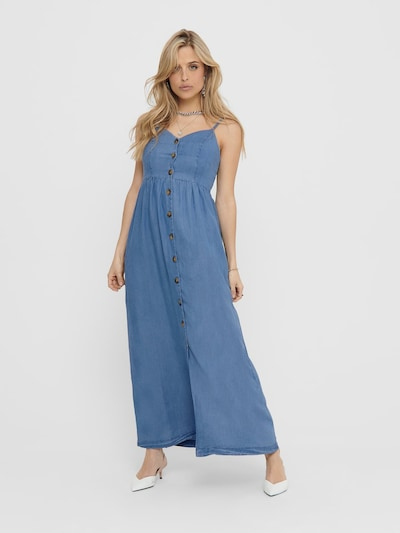 ONLY Sommerkleid 'ONLCUMA LIFE SL BTN DWN LONG S DNM DRESS' in blue denim, Modelansicht