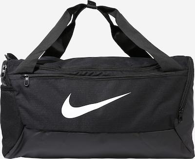 NIKE Športna torba 'BRSLA S DUFF - 9.0' | črna / bela barva, Prikaz izdelka