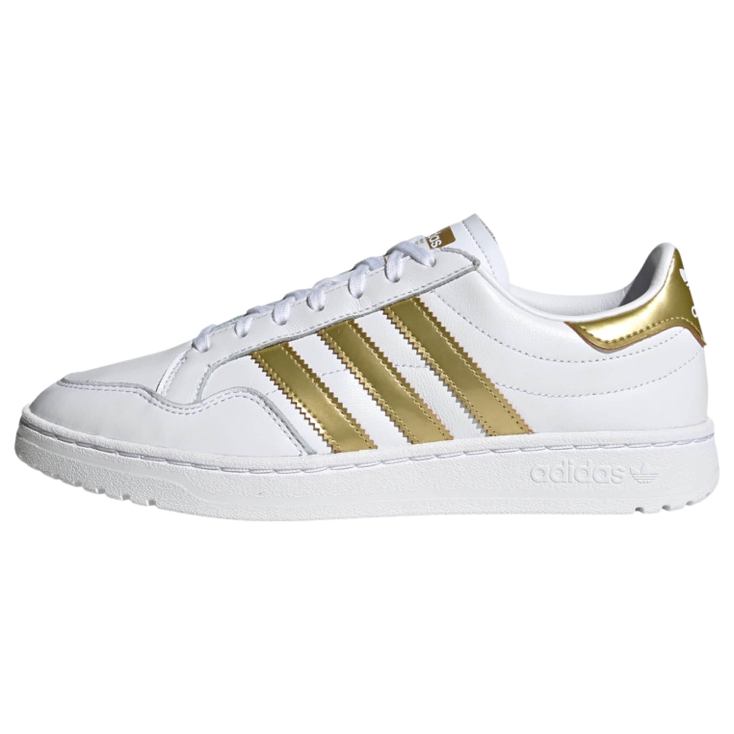 ADIDAS ORIGINALS Team Court Sportmode Sneakers Schuhe in gold / weiß