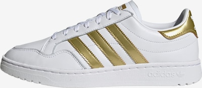 ADIDAS ORIGINALS Team Court Sportmode Sneakers Schuhe in gold / weiß, Produktansicht