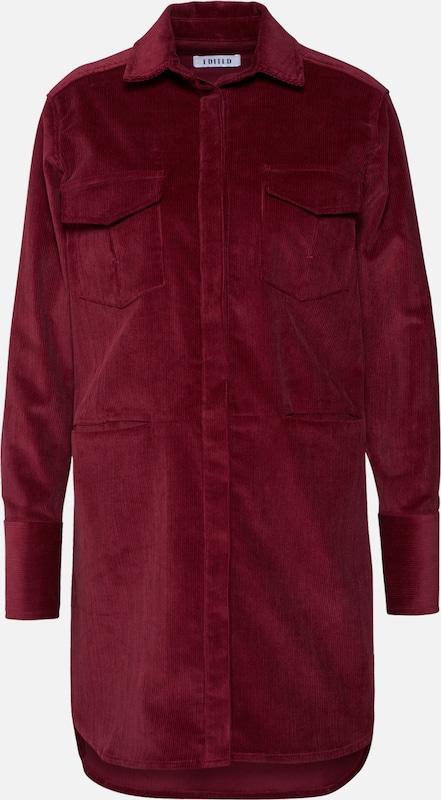 Bordeaux Robe 'fleur' En Edited chemise LSVjzpqMGU