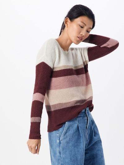 ESPRIT Pullover in creme / weinrot, Modelansicht
