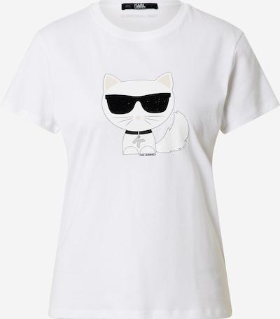 Karl Lagerfeld T-Shirt 'Ikonik Choupette' in schwarz / weiß / offwhite, Produktansicht