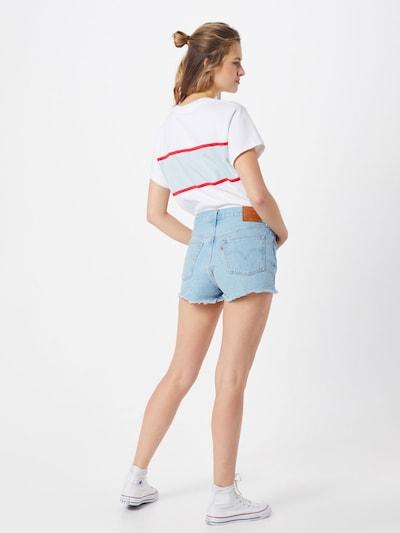 LEVI'S Shorts '501®' in blue denim: Rückansicht