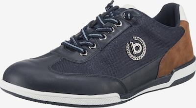 bugatti Sneaker in nachtblau / braun / weiß, Produktansicht