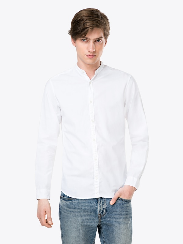s Jackamp; Business Chemise Shirt Blanc 'jprsummer L Sts' Jones En Mao bvfY76yg