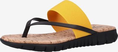 Rapisardi Zehentrenner in gelb / schwarz, Produktansicht