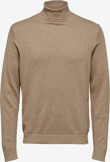 SELECTED HOMME Pullover in hellbraun, Produktansicht