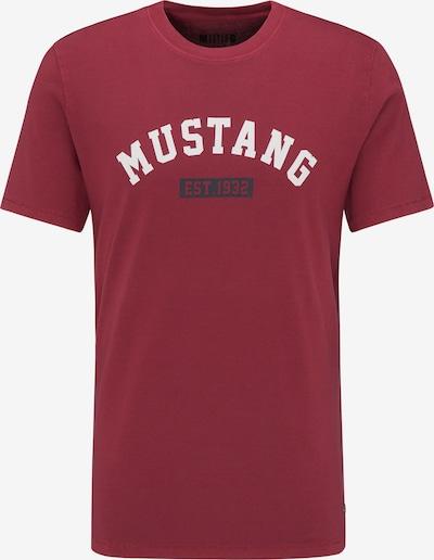 MUSTANG T-Shirt ' Alex C ' in dunkelrot, Produktansicht