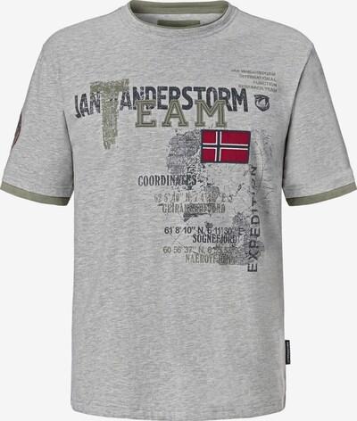 Jan Vanderstorm T-Shirt 'Sölve' en gris / mélange de couleurs: Vue de face