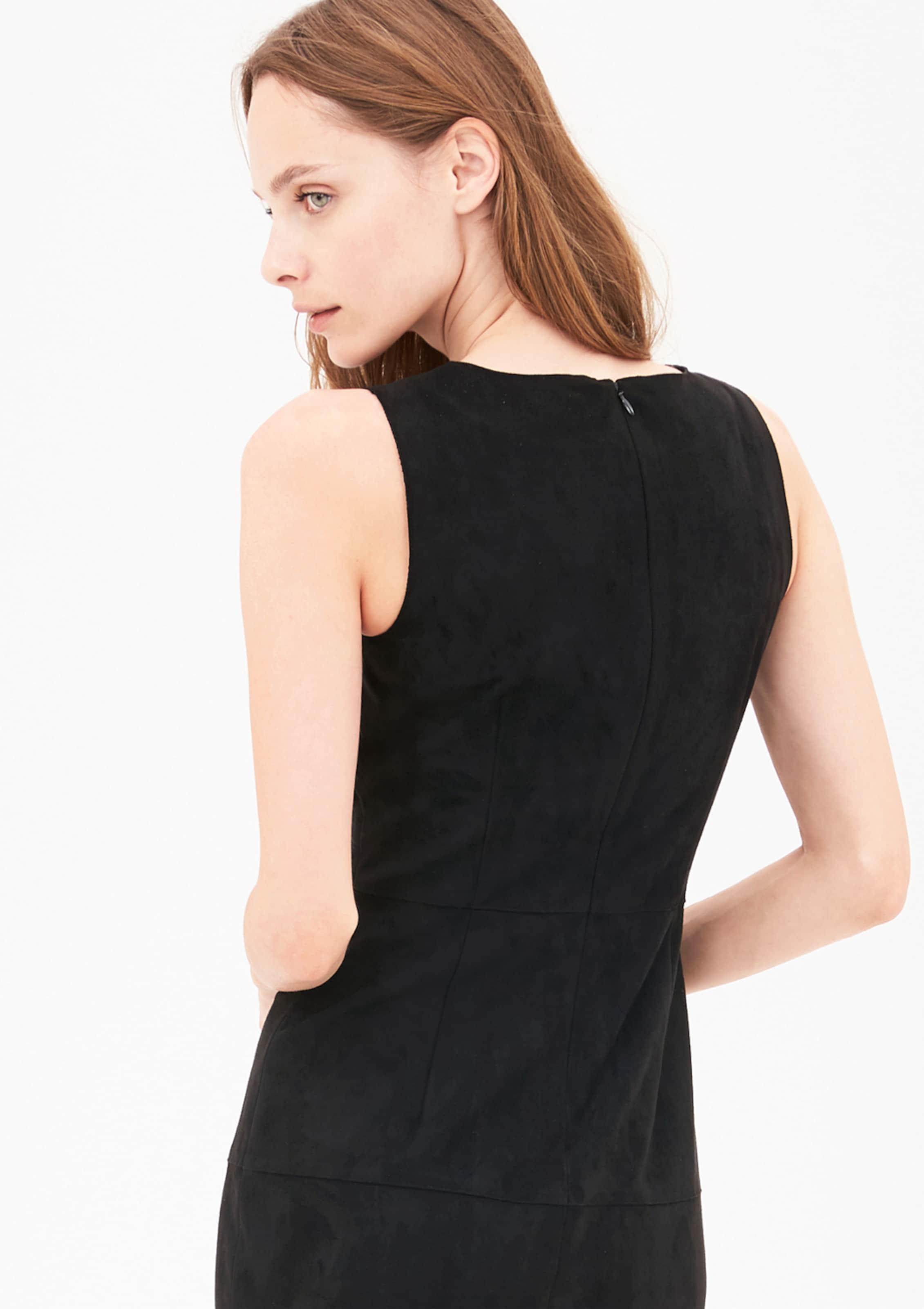 s.Oliver BLACK LABEL Schmales Kleid in Veloursleder-Optik Outlet Billige Qualität Günstig Kaufen Bequem FIT8L0i