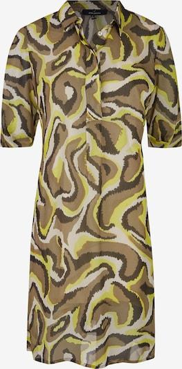 DANIEL HECHTER Trendiges Blusenkleid mit Animalprint in braun / neongelb, Produktansicht