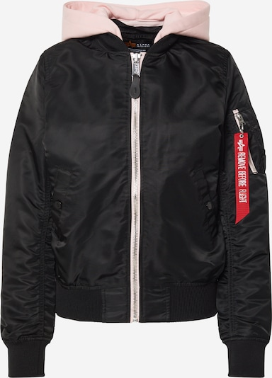 ALPHA INDUSTRIES Jacke 'MA-1 TT Hood' in schwarz, Produktansicht