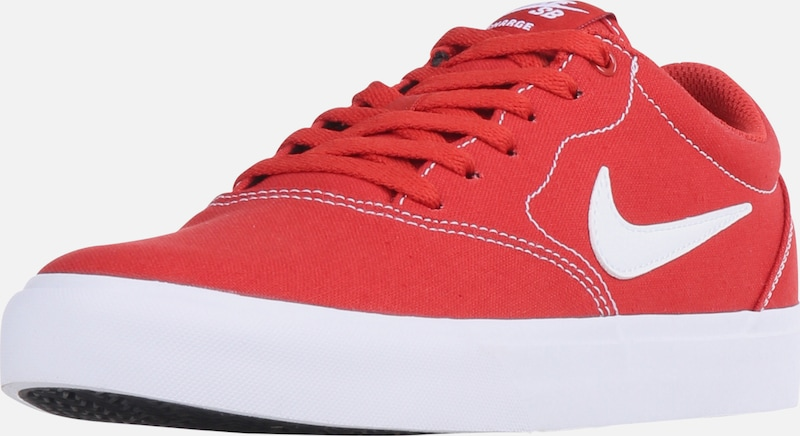 Nike SB Sneaker 'Charge Canvas' in rot / weiß, Produktansicht