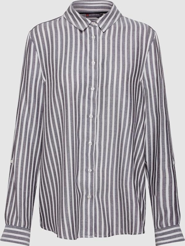 STREET ONE Damen - Blausen & Tuniken 'Striped Blouse with Lurex' in schwarz   weiß  Neu in diesem Quartal