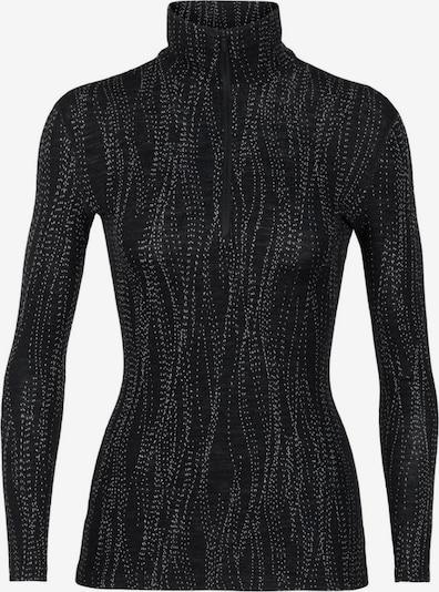 Icebreaker Shirt '250 Vertex LS Drift' in schwarz / weiß, Produktansicht