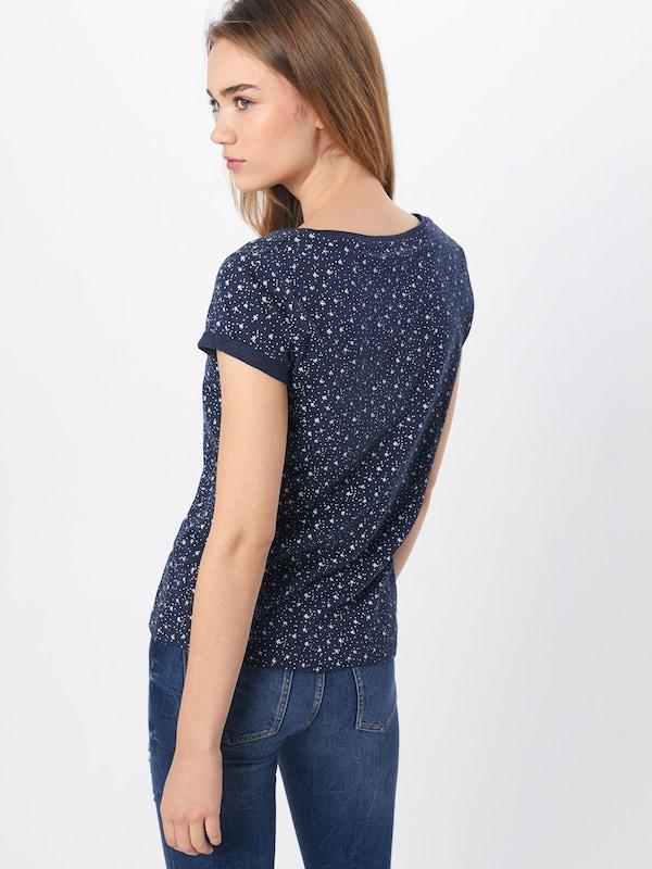 Bleu Edc Marine En By Short 'ocs Slub' Esprit T shirt ZiuOXTPk