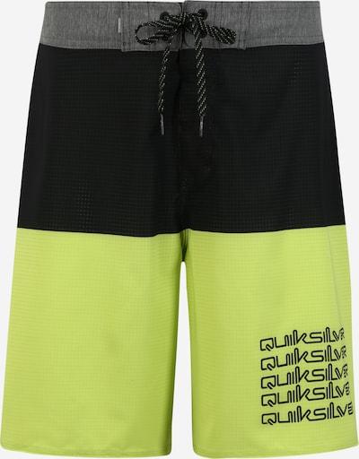 QUIKSILVER Plavecké šortky 'HIGHLINE OMNI' - šedá / světle zelená / černá: Pohled zepředu