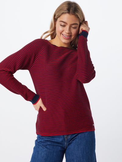 ESPRIT Pullover in navy / mischfarben / knallrot, Modelansicht