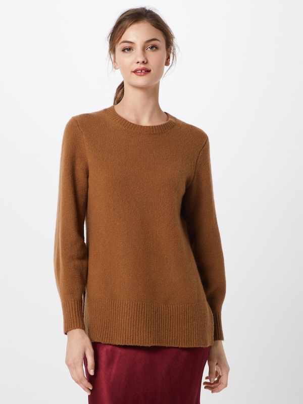 Pull over Slits' Republic With 'fluffy Side En Marron Tunic Banana Crew vYg67bfy