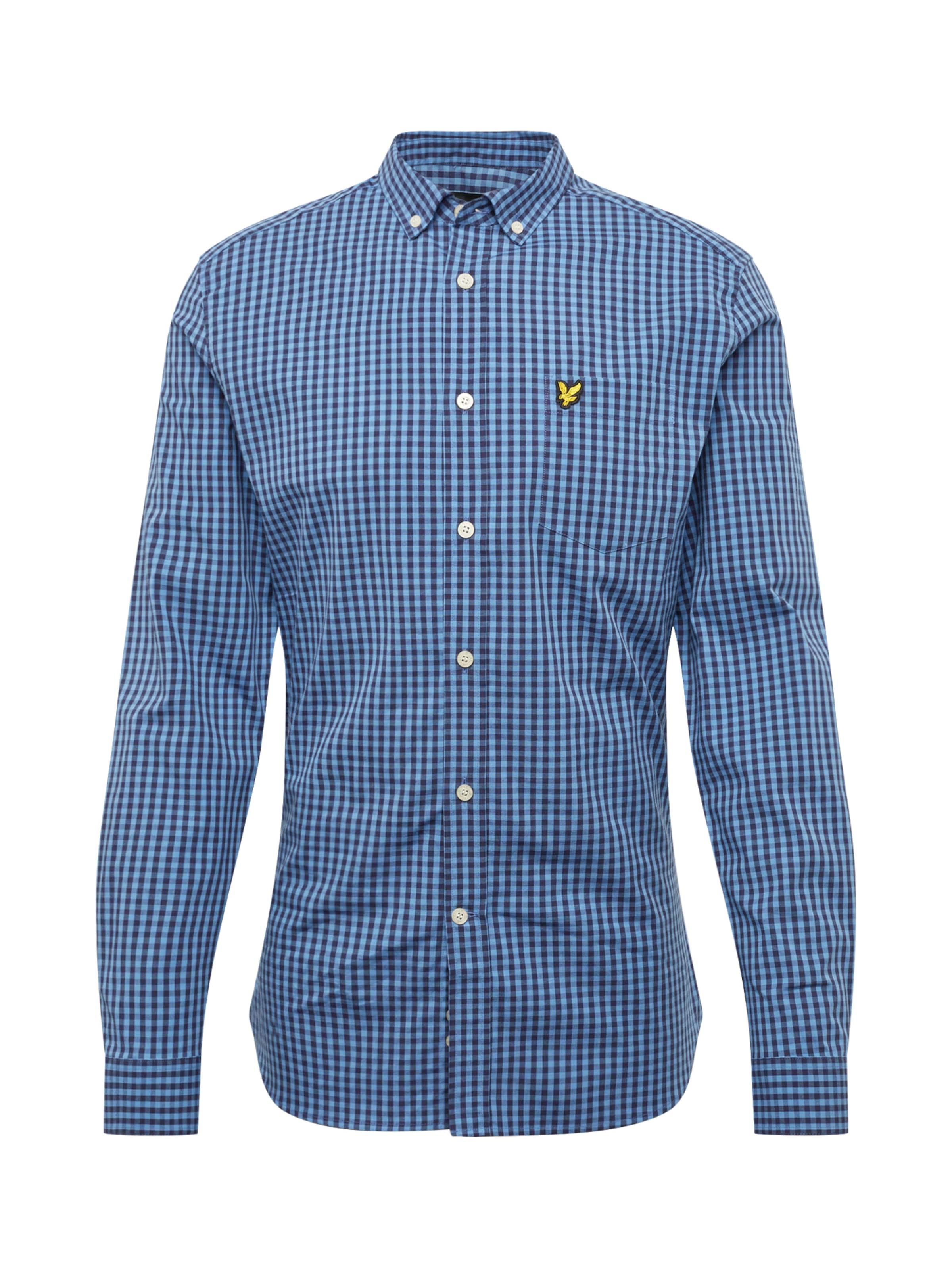 Fit Scott En BleuBlanc Chemise Slim Gingham 'ls Lyleamp; Shirt' 5jL34RAq