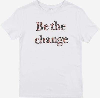 NAME IT Shirt 'KAIZA' in schwarz / weiß, Produktansicht