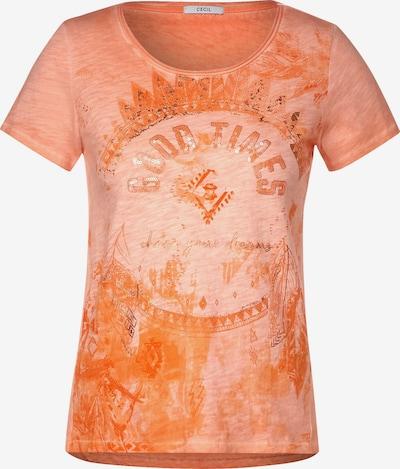 CECIL T-Shirt mit Design in orange, Produktansicht