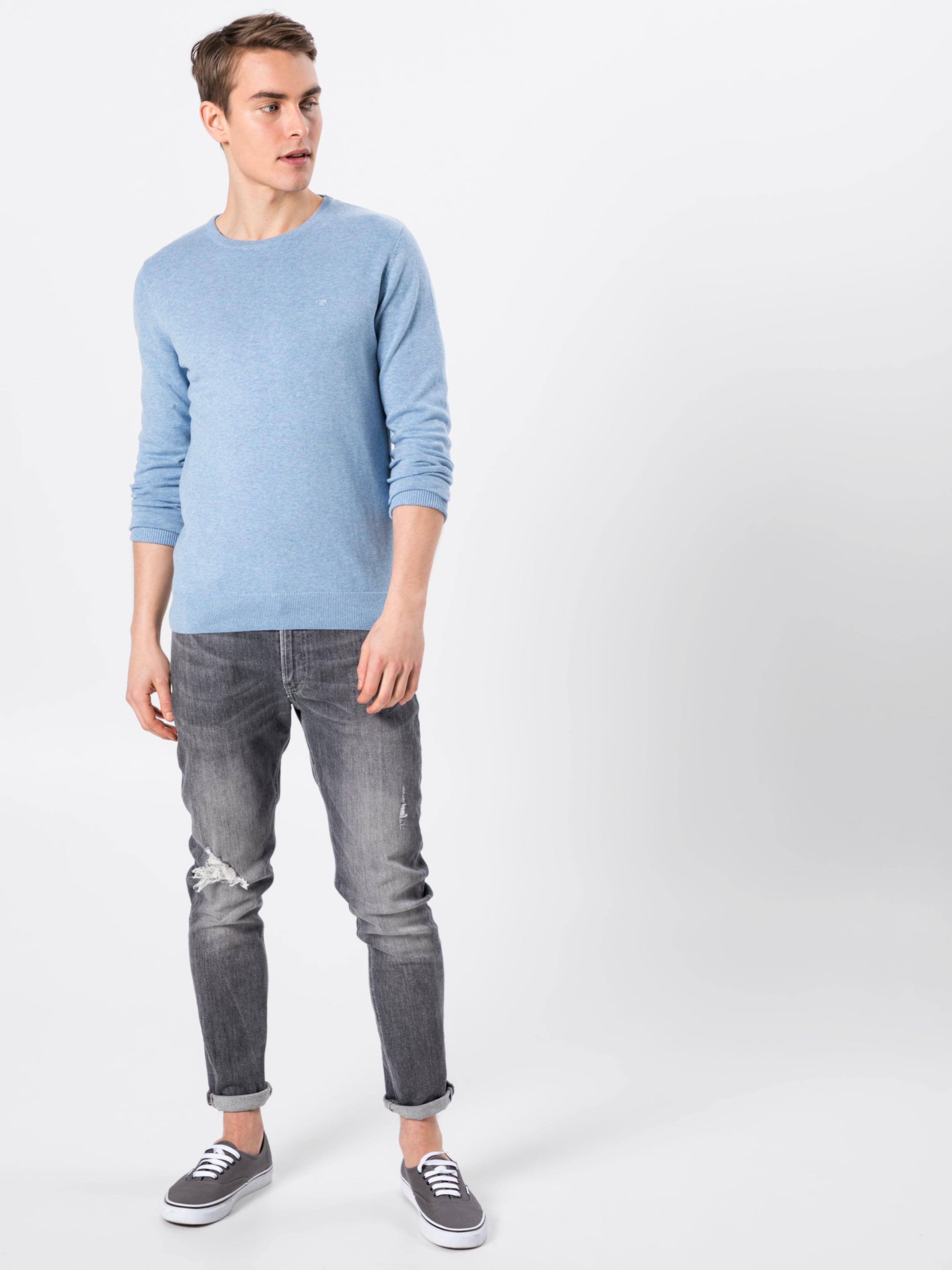 Tom Tailor Crewneck Pullover 'modern 1 In Basic Hellblau 1' Style m0Nvnw8