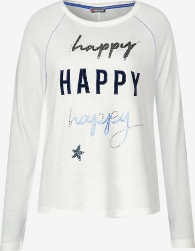 STREET ONE Shirt 'Mina' in hellblau / dunkelblau / offwhite, Produktansicht