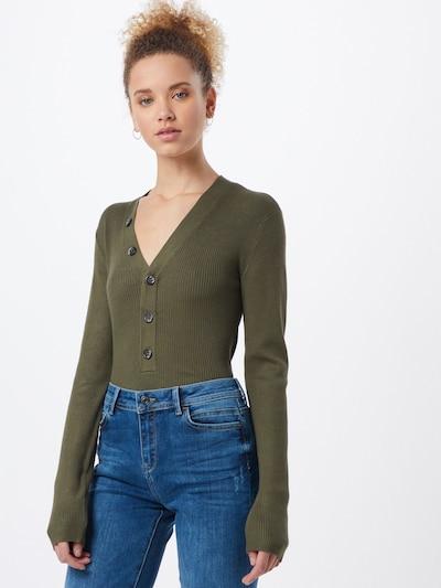 OBJECT Pullover 'OBJNINA' in oliv, Modelansicht