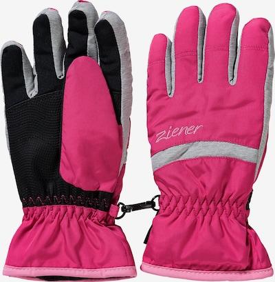 ZIENER Skihandschuhe 'Lejano AS' in grau / pink / schwarz, Produktansicht