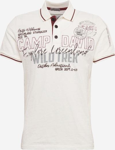 CAMP DAVID Majica | temno rjava / siva / krvavo rdeča / bela barva, Prikaz izdelka