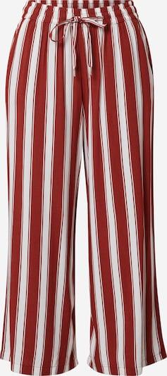 Q/S designed by Pantalon en rouge / blanc, Vue avec produit