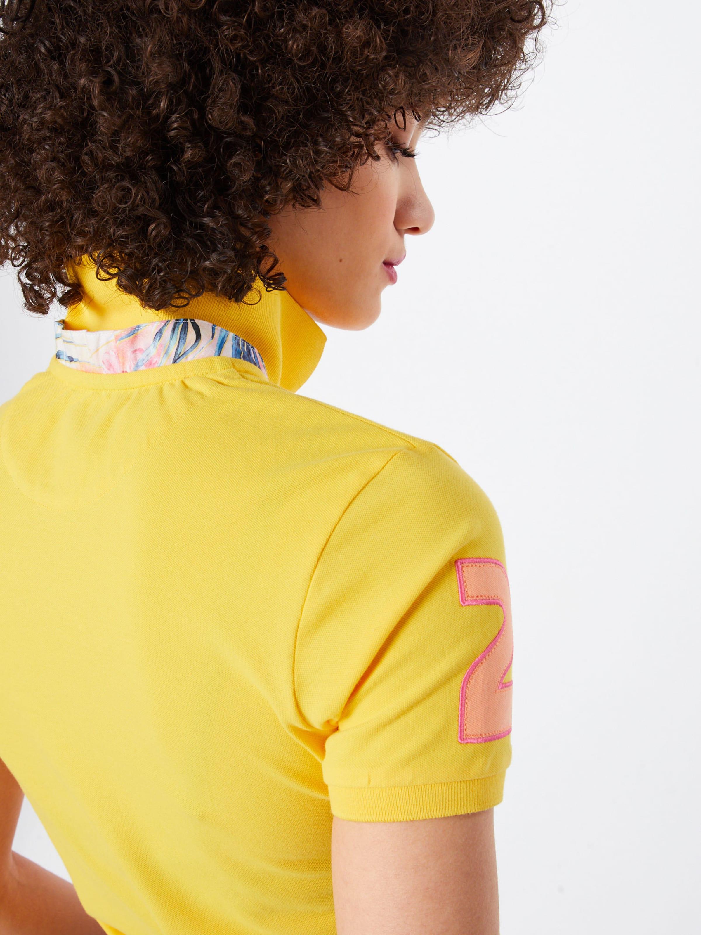 shirt En Martina Piquet Stretch' Jaune La T 'woman Polo bgyvYf76