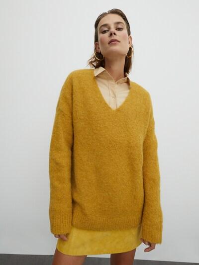 sárga EDITED Pulóver 'Fawini', Modell nézet