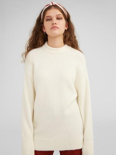 EDITED Pulover 'Sanae' | bež / bela barva, Prikaz modela