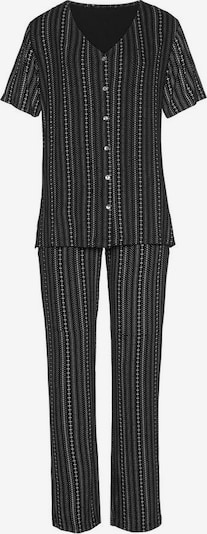 LASCANA Pyjama in schwarz / weiß, Produktansicht