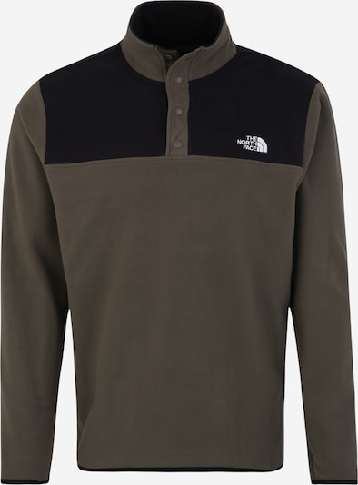 THE NORTH FACE Sportsweatshirt 'Tka Glacier Snap-Neck' in khaki / schwarz / weiß, Produktansicht