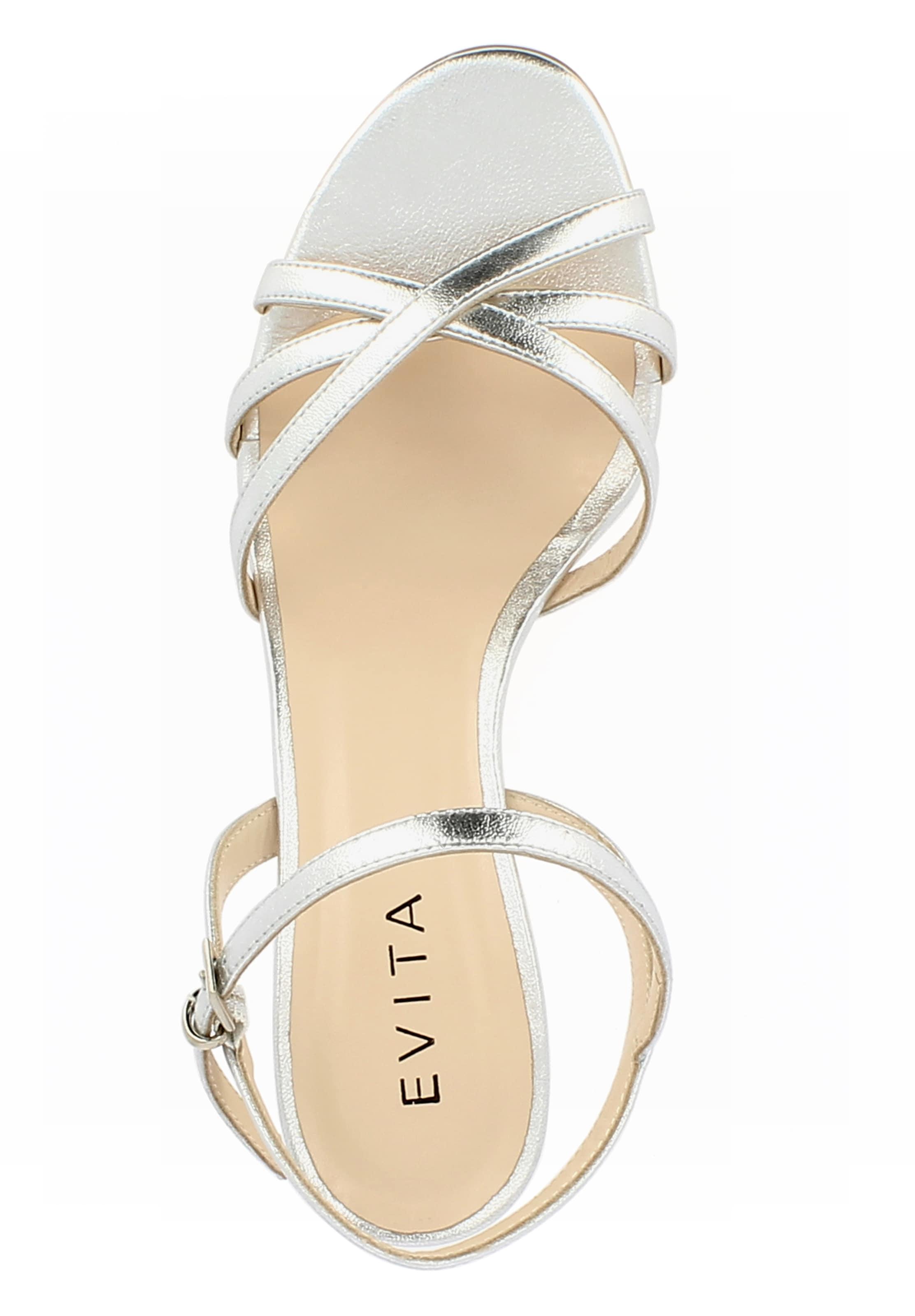 Evita À 'gioia' Lanières Sandales En Argent 7fgyYb6