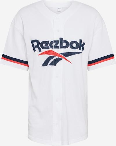 Reebok Classic T-Shirt 'Retro-Style' en blanc: Vue de face