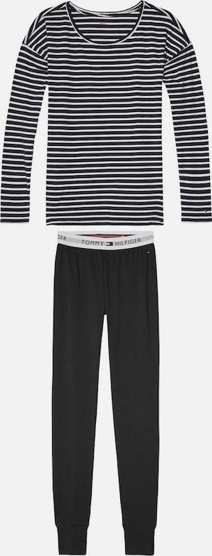 TOMMY HILFIGER Schlafanzug »Cotton set ls iconic fashion«